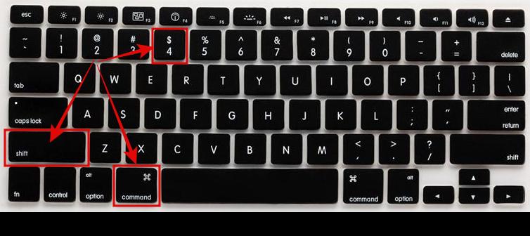 Take a screenshot on a mac