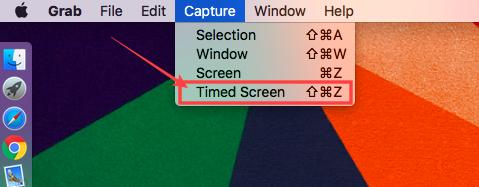 timed screenshot
