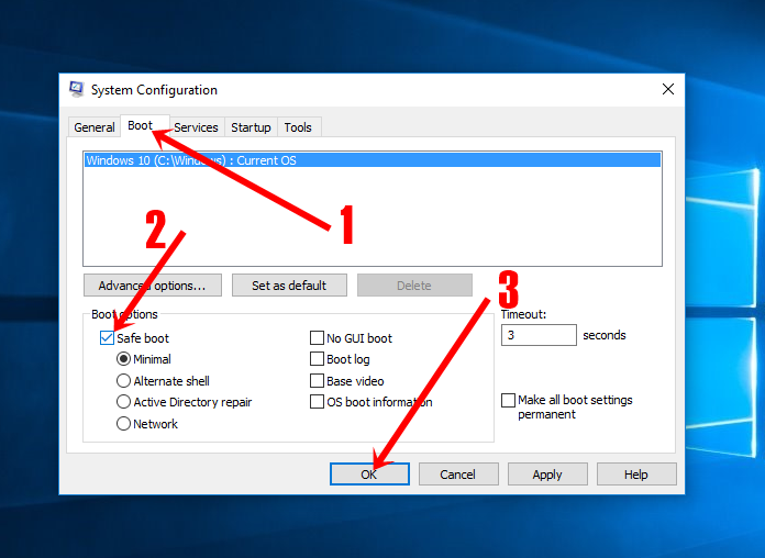 Boot into Windows 10's Safe Mode