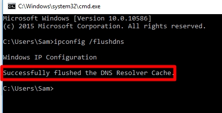 DNS flushed