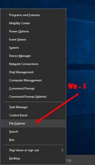 File Explorer with powemenu
