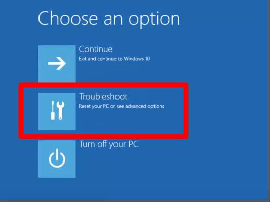 Start PC in Windows 10's safe mode
