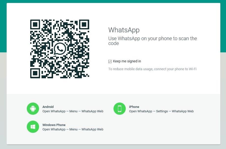WhatsApp for Laptop - via whatsapp web