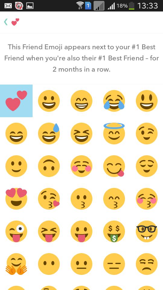 Change snapchat emoji for friends