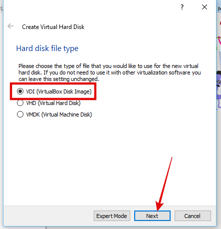 Create Virtual harddrive