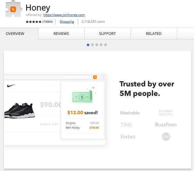 Honey Chrome Extension