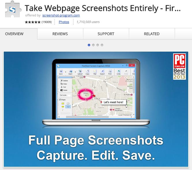 Take webpage screenshot entirely