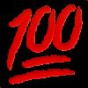 hundred symbol emoji